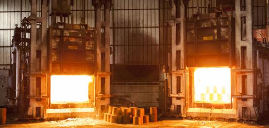 Capacità produttiva stampaggio acciaio