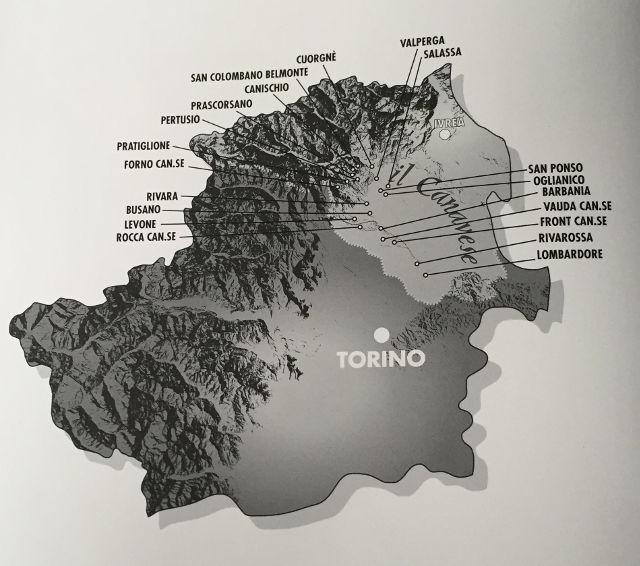 Stampaggio a caldo Canavese - Mappa del Canavese